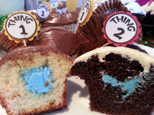 Gender reveal cupcakes - 2 boys!!